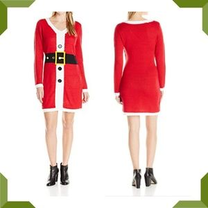 Sweaters - Ugly Christmas Sweater Dress Santa Holiday